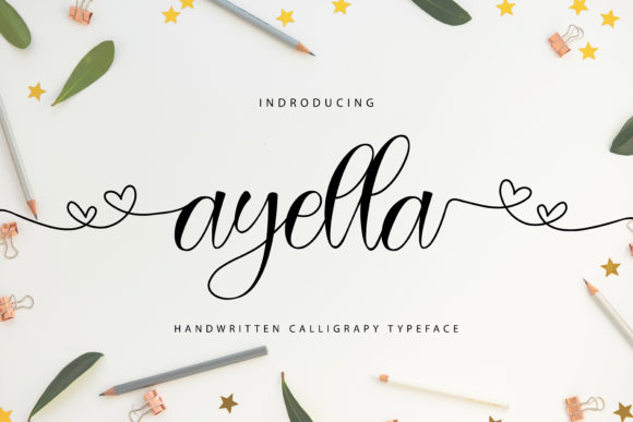 Print on Demand: Ayella Script & Handwritten Font By Letterfand.Studio
