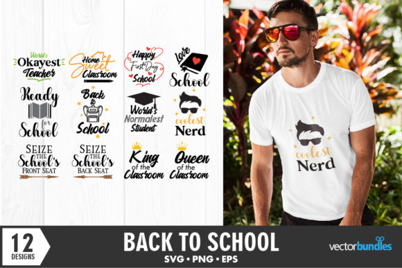 Print on Demand: Back to School Quotes Bundle Graphic Crafts By vectorbundles