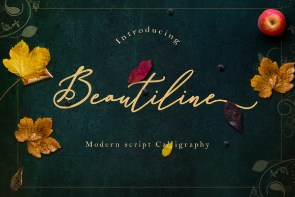 Print on Demand: Beautiline Script & Handwritten Font By Sulthan Studio
