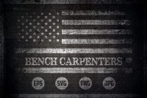 Bench Carpenters - USA Flag Graphic Crafts By Creative Mind