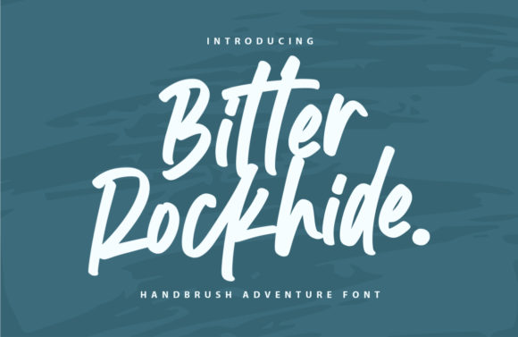 Print on Demand: Bitter Rockhide Script & Handwritten Font By Typefar