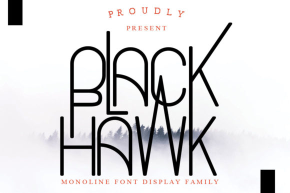 Print on Demand: Black Hawk Display Font By jehansyah251