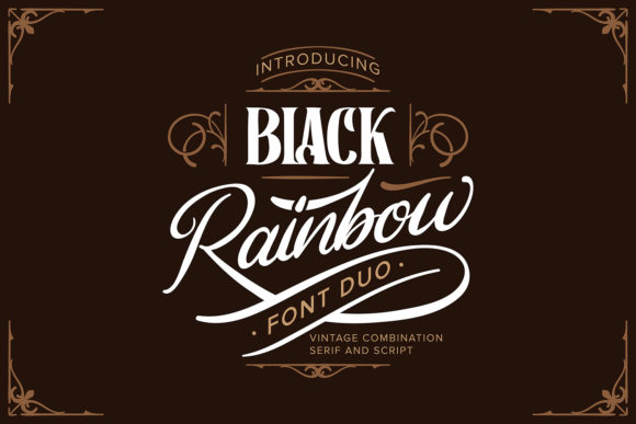 Print on Demand: Black Rainbow Script & Handwritten Font By Vunira
