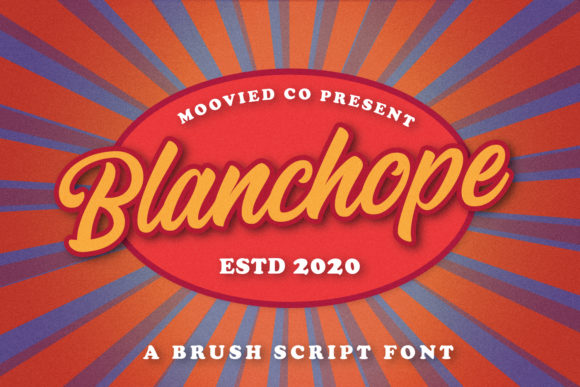 Print on Demand: Blanchope Script & Handwritten Font By Temp here