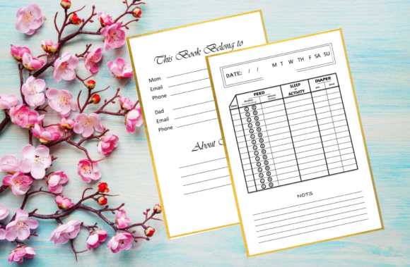 Print on Demand: Breastfeeding / Baby Log Book Graphic KDP Interiors By Sei Ripan