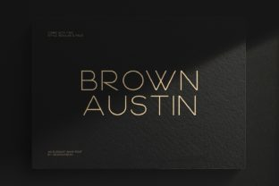 Print on Demand: Brown Austin Sans Serif Font By Graphicfresh