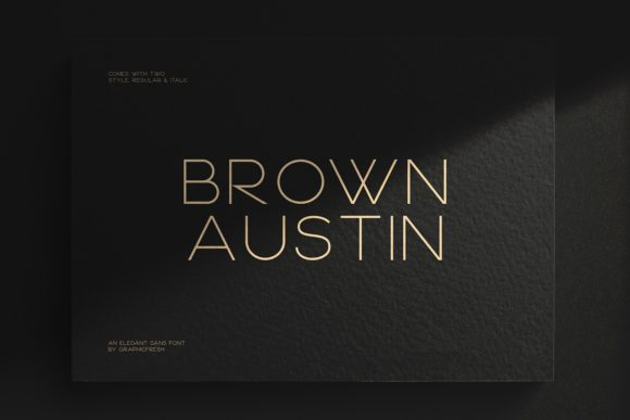 Print on Demand: Brown Austin Sans Serif Font By Sameeh Media