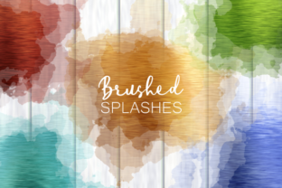 Print on Demand: Brushed Metal Rainbow Splash Templates Graphic Backgrounds By Prawny
