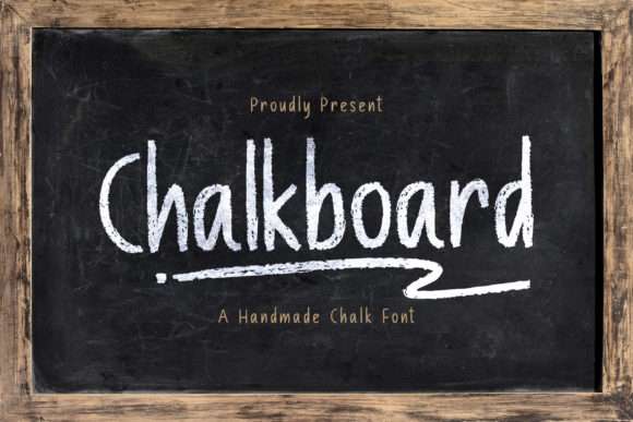Print on Demand: Chalkboard Display Font By StringLabs - Image 1