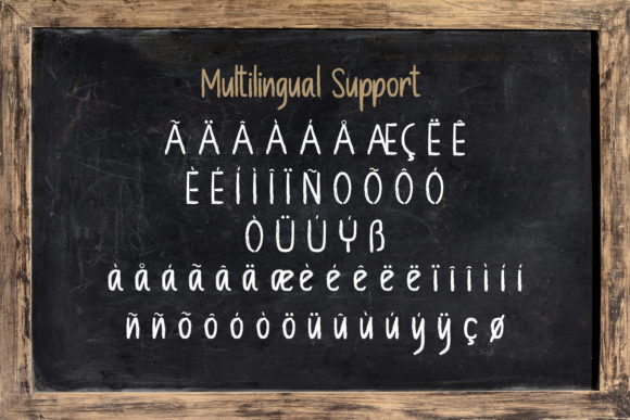 Print on Demand: Chalkboard Display Font By StringLabs - Image 13