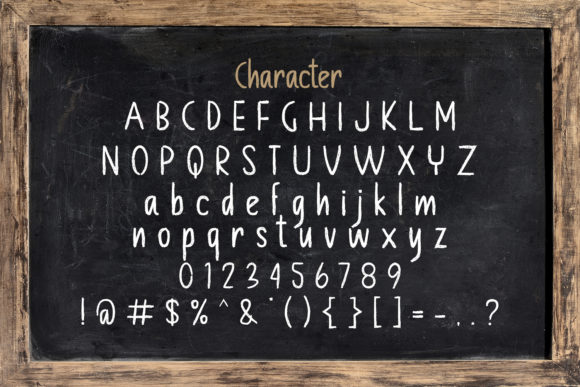 Print on Demand: Chalkboard Display Font By StringLabs - Image 14
