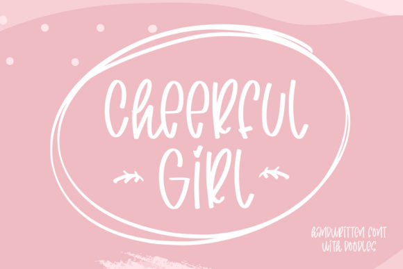 Print on Demand: Cheerful Girl Script & Handwritten Font By Abodaniel