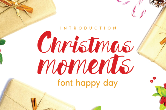 Print on Demand: Christmas Moments Script & Handwritten Font By andikastudio