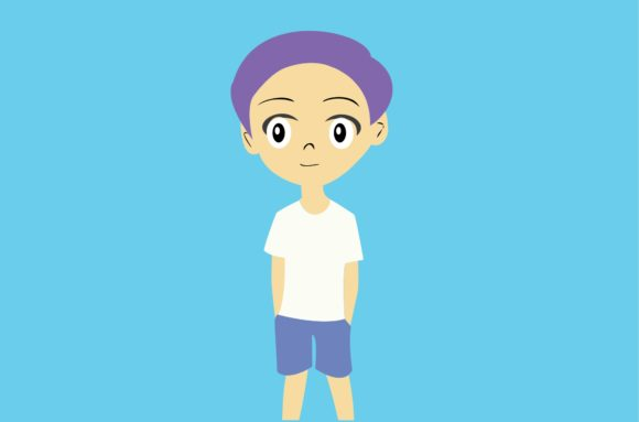 Cool Boy Chibi Character Vector Graphic Illustrations By harunikaart