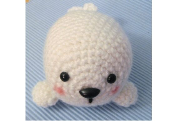 Crochet Baby Seal Pattern Graphic Crochet Patterns By Amy Gaines Amigurumi Patterns - Image 1