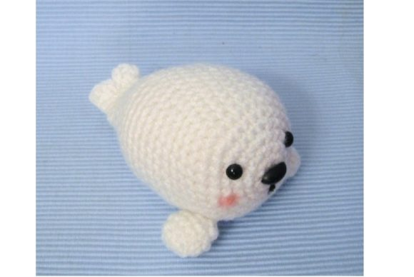 Crochet Baby Seal Pattern Graphic Crochet Patterns By Amy Gaines Amigurumi Patterns - Image 2