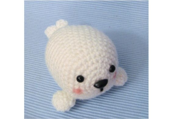 Crochet Baby Seal Pattern Graphic Crochet Patterns By Amy Gaines Amigurumi Patterns - Image 3