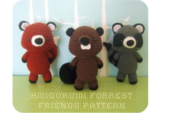 Crochet Forrest Friends Pattern Set Graphic Crochet Patterns By Amy Gaines Amigurumi Patterns