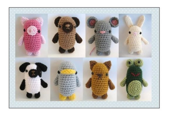 Crochet Little Critters Pattern Set Graphic Crochet Patterns By Amy Gaines Amigurumi Patterns - Image 1