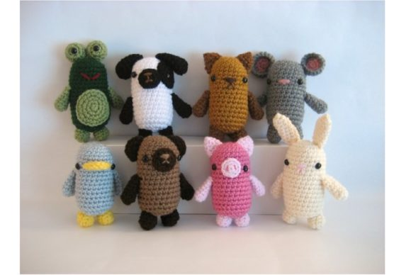 Crochet Little Critters Pattern Set Graphic Crochet Patterns By Amy Gaines Amigurumi Patterns - Image 2