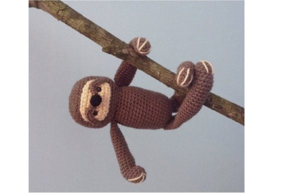 Crochet Sloth Pattern Graphic Crochet Patterns By Amy Gaines Amigurumi Patterns - Image 1