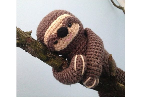 Crochet Sloth Pattern Graphic Crochet Patterns By Amy Gaines Amigurumi Patterns - Image 2