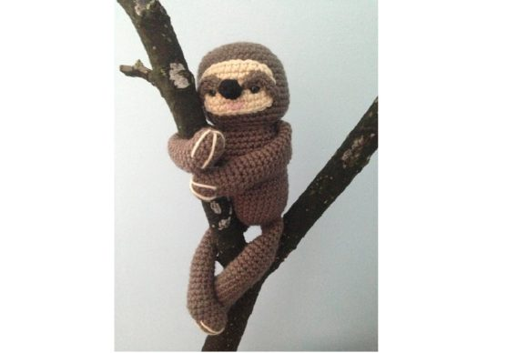 Crochet Sloth Pattern Graphic Crochet Patterns By Amy Gaines Amigurumi Patterns - Image 3