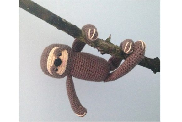 Crochet Sloth Pattern Graphic Crochet Patterns By Amy Gaines Amigurumi Patterns - Image 5