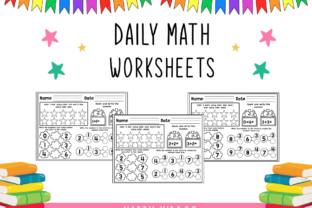 Daily Math Worksheets Graphic 1st grade By Happy Kiddos