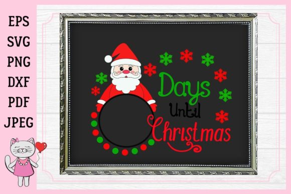 Days Until Christmas   Graphic Illustrations By  Magic world of design