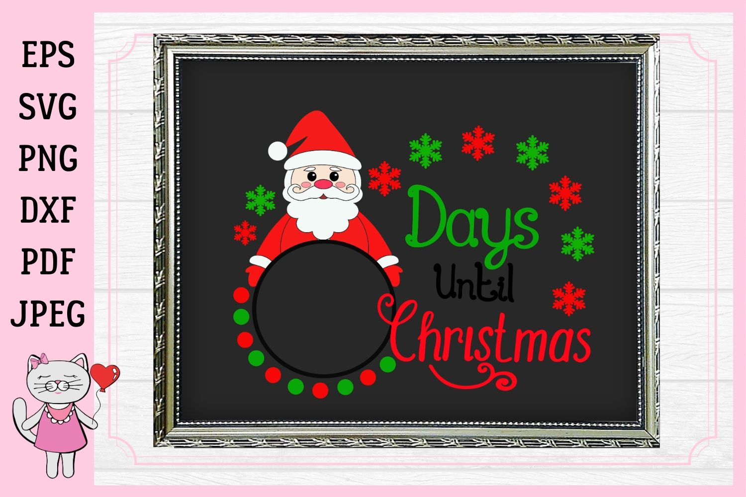 Download Free Days Until Christmas Svg Christmas Graphic By Magic World Of for Cricut Explore, Silhouette and other cutting machines.