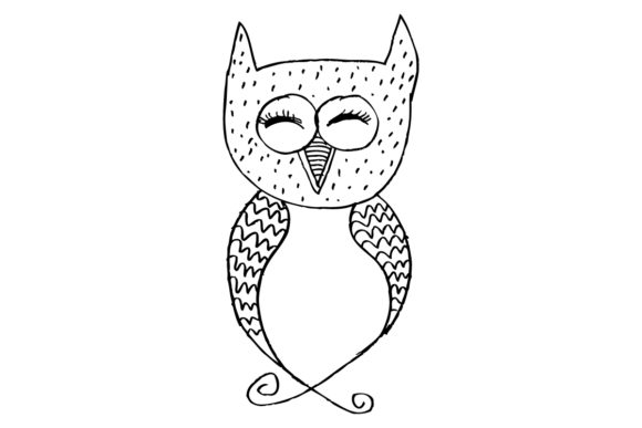 Doodle Decorative Owl Graphic Crafts By han.dhini