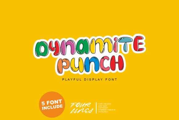 Print on Demand: Dynamite Punch Display Font By Fourlines.design