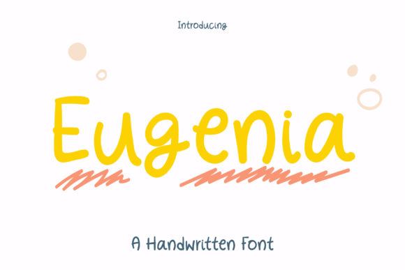 Print on Demand: Eugenia Script & Handwritten Font By Wanida Toffy