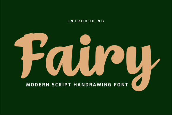 Print on Demand: Fairy Script & Handwritten Font By twinletter