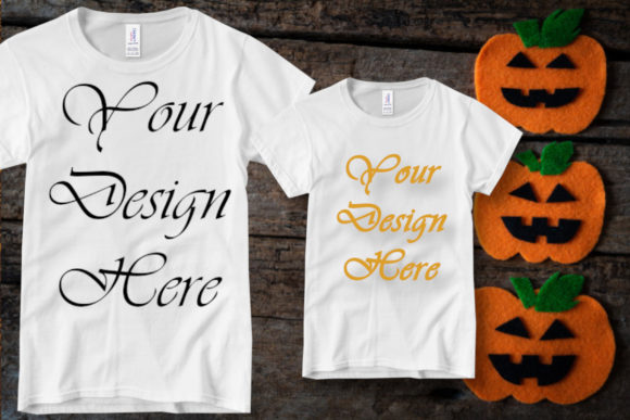 Family Matching Mockup, Halloween Decor Graphic Product Mockups By MockupsByGaby - Image 1