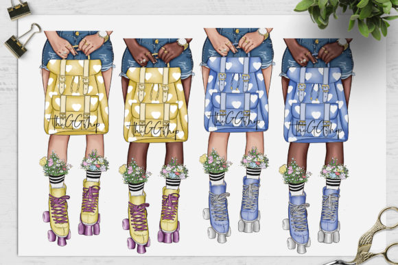Print on Demand: Fashion Clipart Set Planner Insert Graphic Illustrations By TheGGShop - Image 3