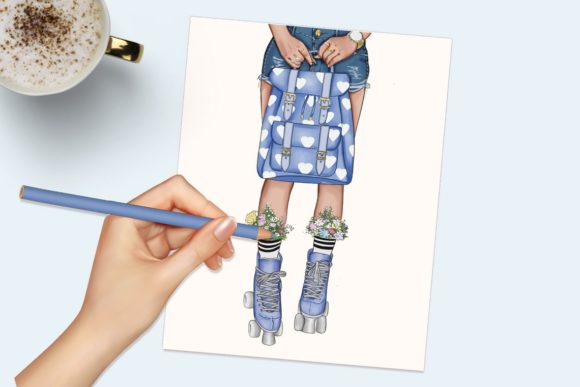 Print on Demand: Fashion Clipart Set Planner Insert Graphic Illustrations By TheGGShop - Image 5