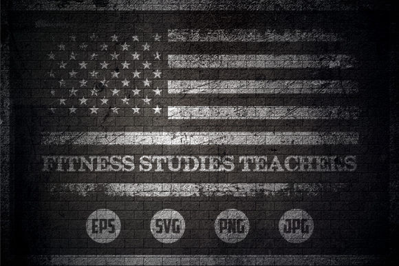 Fitness Studies Teachers - USA Flag Graphic Crafts By Creative Mind