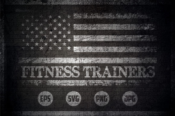Fitness Trainers - USA Flag Graphic Crafts By Creative Mind
