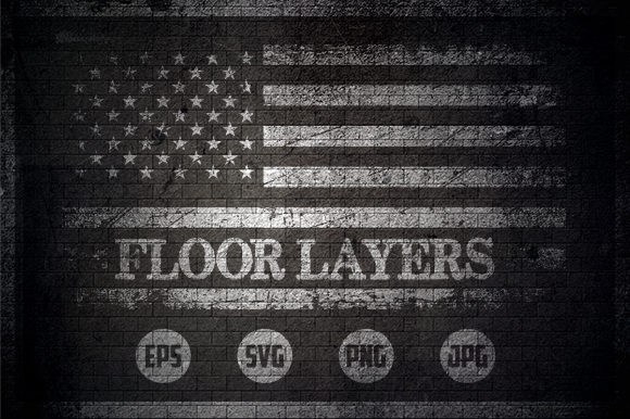 Floor Insulation Workers - USA Flag Graphic Crafts By Creative Mind