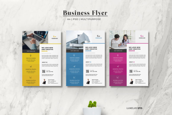 Flyer Design  - Corporate Business Graphic Print Templates By luxelio