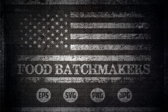 Food Batchmakers - USA Flag Graphic Crafts By Creative Mind