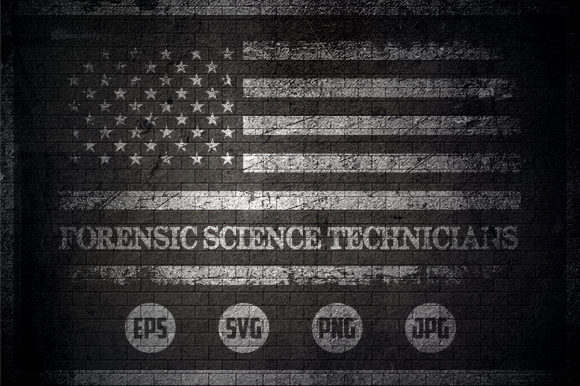 Forensic Science Technicians - USA Flag Graphic Crafts By Creative Mind