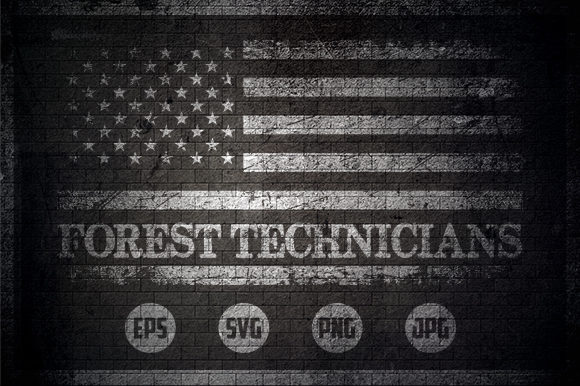 Forest Technicians - USA Flag Graphic Crafts By Creative Mind