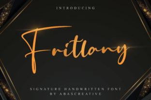 Print on Demand: Fritlany Script & Handwritten Font By AbasCreative 1