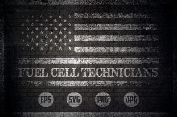Fuel Cell Technicians - USA Flag Graphic Crafts By Creative Mind