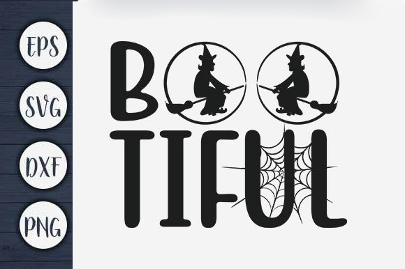 Print on Demand: Halloween T-shirt Design, Bootiful Graphic Print Templates By CreativeArt