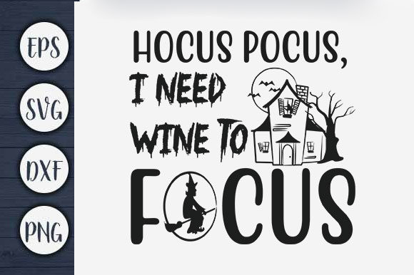 Print on Demand: Halloween T-shirt Design, Hocus Pocus Quote Graphic Print Templates By CreativeArt