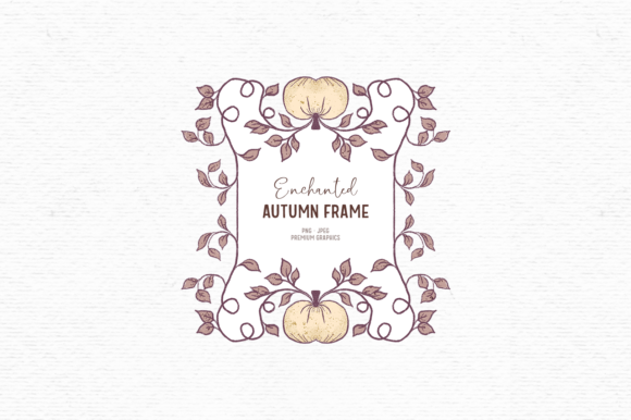 Print on Demand: Hand-drawn Fall Clipart Frame Graphic Illustrations By Wallifyer